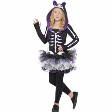 Kat skelet verkleedkleding voor kids