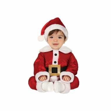 Kerstman baby verkleed verkleedkleding 3 delig