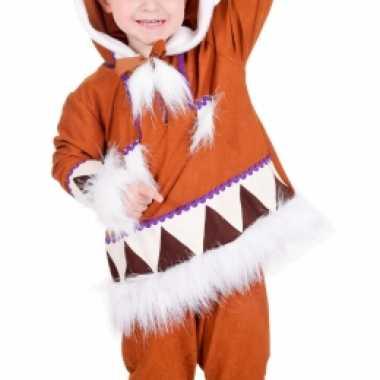 Kids eskimo verkleedkleding compleet