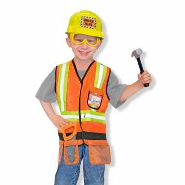 Kinder verkleedkleding bouwvakker