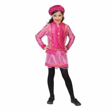Kinder verkleedkleding roetveegpiet roze