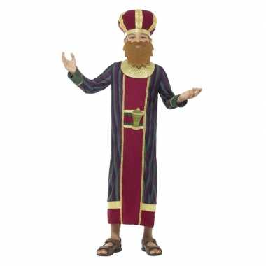 Koning balthazar verkleedkleding voor jongens 3 koningen kerst verkle
