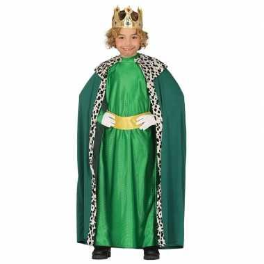 Koning mantel groen verkleedverkleedkleding voor kinderen