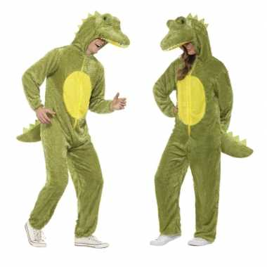 Krokodil onesie verkleedkleding voor volwassenen