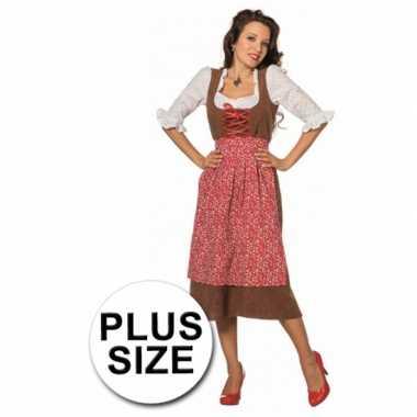 Lang tiroler grote maat verkleedkleding voor dames