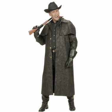 Lange heren jas voor cowboys verkleedkleding