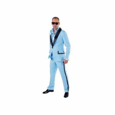 Lichtblauwe smoking verkleedkleding voor heren
