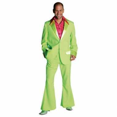 Lime groen jaren 70 verkleedkleding heren