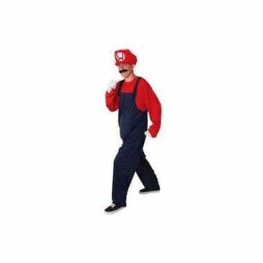 Loodgieter verkleedkleding rood voor heren