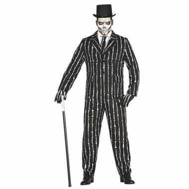 Luxe 3 delig skeletten verkleedkleding voor heren