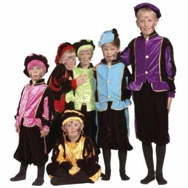 Luxe blauwe pieten verkleedkleding voor kinderen