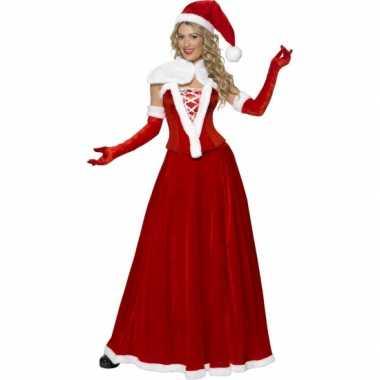 Luxe kerstvrouw verkleedkleding