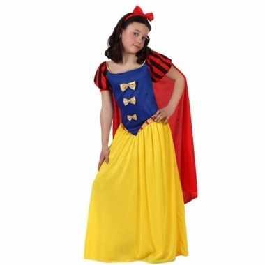 Luxe sprookjesprinses verkleedkleding met cape