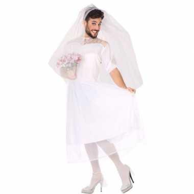 Man bruid fun verkleed verkleedkleding voor heren