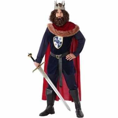 Middeleeuwse koning verkleed verkleedkleding voor heren