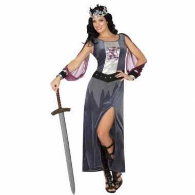 Middeleeuwse koningin victoria verkleed verkleedkleding/jurk voor dam