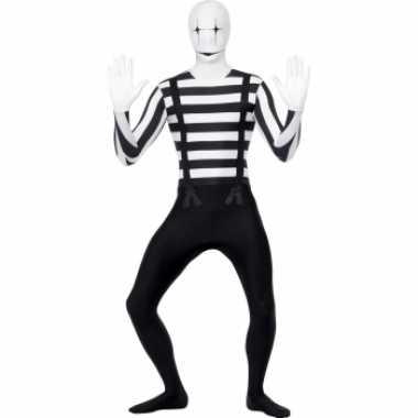 Mime artiest second skin verkleedkleding