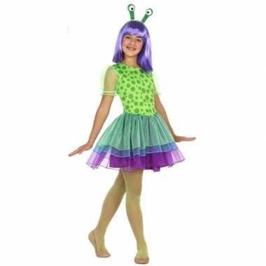 Neon alien verkleedkleding voor meisjes
