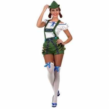 Oktoberfest sexy oktoberfest verkleed pak/verkleedkleding groen voor