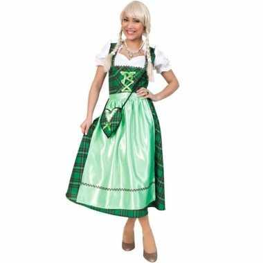 Oktoberfest verkleedkleding met groene schotse ruit