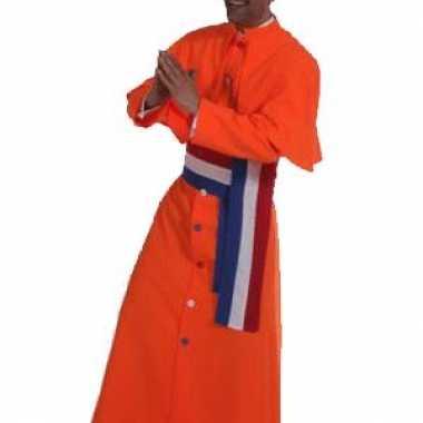 Oranje kardinaal verkleedkleding heren