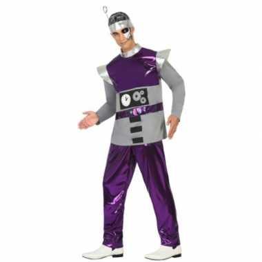 Paars robot verkleedkleding voor heren