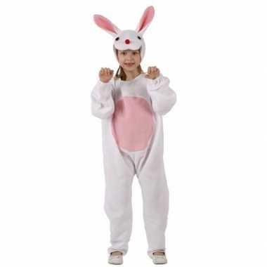 Paashaas verkleedkleding wit/roze voor kinderen