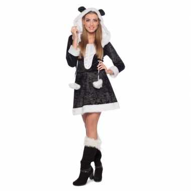 Panda dierenverkleedkleding jurkje voor dames