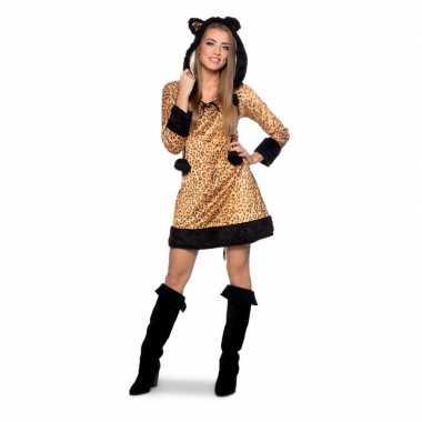 Panter dierenverkleedkleding jurkje voor dames