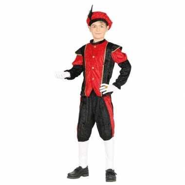 Pieten verkleed verkleedkleding zwart/rood voor jongens/meisjes
