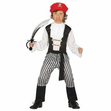 Piraten verkleedkleding maat 128 134 met zwaard voor kinderen