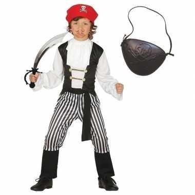 Piraten verkleedkleding maat 128 134 voor kinderen