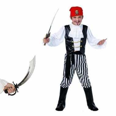 Piraten verkleedkleding maat l met zwaard voor kids