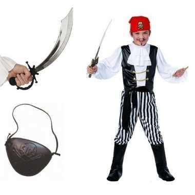Piraten verkleedkleding maat m voor kids