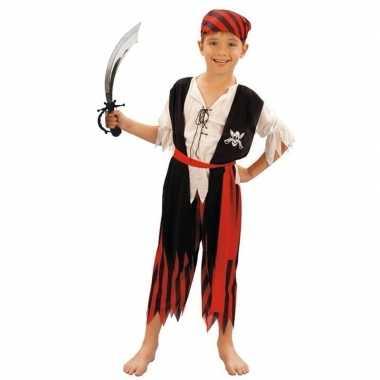 Piraten verkleedkleding maat s met zwaard voor kinderen