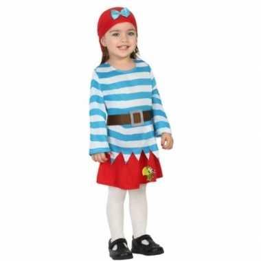 Piraten verkleedkleding met rok peuters