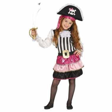 Piraten verkleedkleding roze voor meisjes