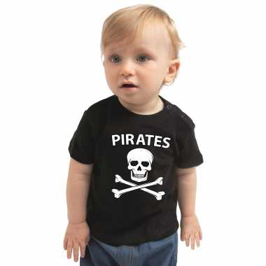 Piraten verkleedkleding shirt zwart voor babys