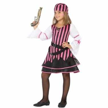 Piraten verkleedkleding voor meisjes roze