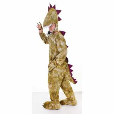 Pluche dinosaurus verkleedkleding volwassenen