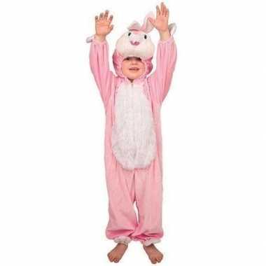 Pluche konijn verkleedkleding kinderen