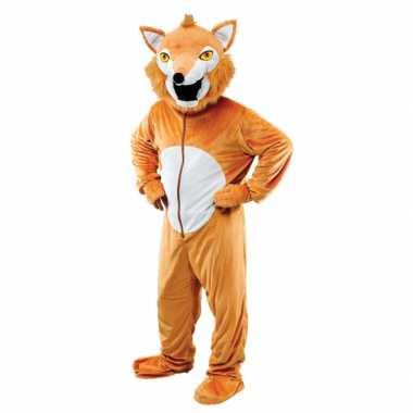 Pluche vos verkleedkleding voor volwassenen