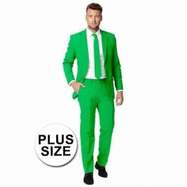 Plus size heren verkleedkleding groen