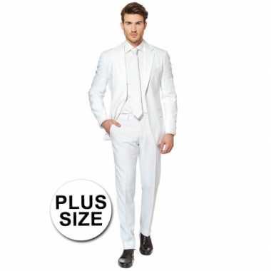 Plus size heren verkleedkleding wit