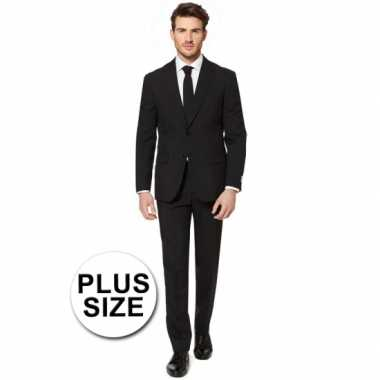 Plus size heren verkleedkleding zwart