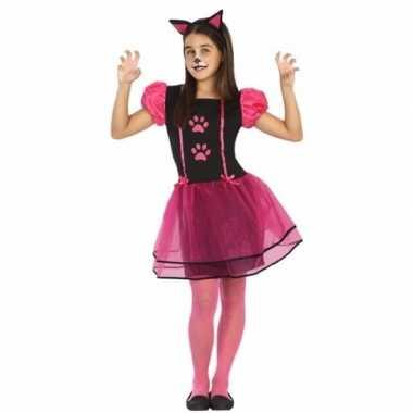 Poes/kat kitty verkleedkleding voor meisjes