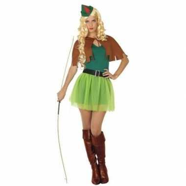 Robin hood verkleedkleding 4 delig voor dames