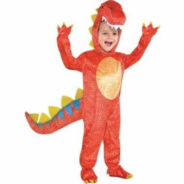 Rood dinosaurus verkleedkleding voor kids