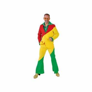 Rood/geel/groene verkleedkleding voor volwassenen