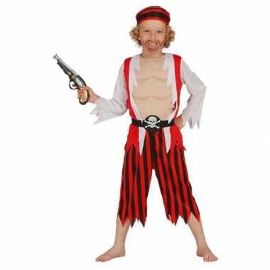 Rood piraten verkleedkleding voor kinderen